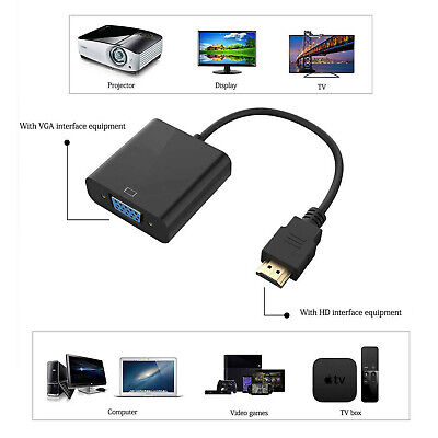 £3 • Buy HDMI Male To VGA Female Converter Adapter Cable 1080P For PC HDTV DVD Laptop UK