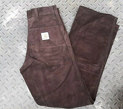 £40 • Buy Carhartt Vintage 90's Simple Pant Chocolate Skateboard Cord Trousers W27 X L32