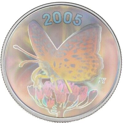$32 • Buy Butterfly: Great Spangled Fritillary 2005 Canada 50 Cents Sterling Silver Coin