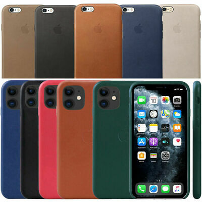 AU10.99 • Buy Original Leather Case Slim Back Cover For Apple IPhone 6 7 8 Plus XS Max XR X 11