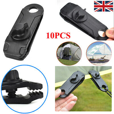 £9.49 • Buy 10Pcs Heavy Duty Tarp Clips Clamps Buckle For Camping Canopies Tents Canvas UK
