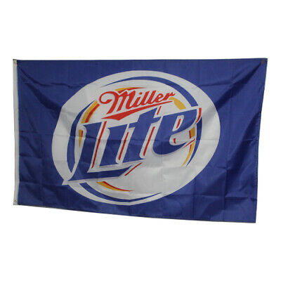 $11.99 • Buy New Miller Lite 3ft X 5ft Flag With Metal Eyelets