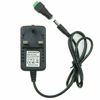 £3.85 • Buy Adapter Power Supply Safety Charger 12V For LED Strip CCTV Camera EU UK 1A 2A DC