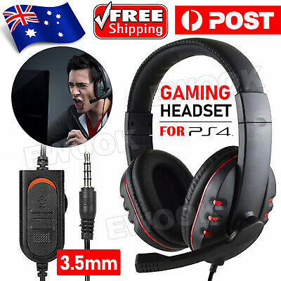 AU16.95 • Buy Durable Stereo Gaming Headset Headphone Wired With Mic For PC Xbox One PS4 AU