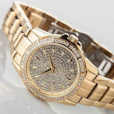 £129 • Buy YVES CAMANI GALAURE Womens Watch Gold Plated Stainless Steel Zirconia Crystals