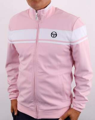 £55 • Buy Sergio Tacchini Masters Track Top In Pink & White - Tracksuit Jacket 80s Casual