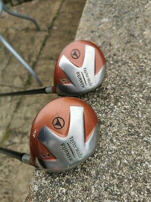 £30 • Buy TaylorMade Burner Woods, 3 (s-90) And 5 (r-80) Bubble Shaft 2 And Headcovers