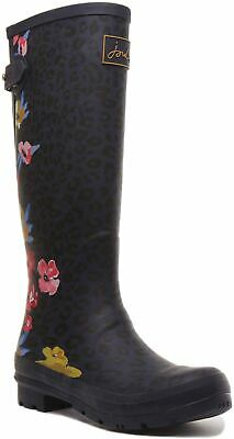 £49.95 • Buy Joules Welly Womens Flower And Leopard Printed Boot In Navy Floral UK Size 3 - 8