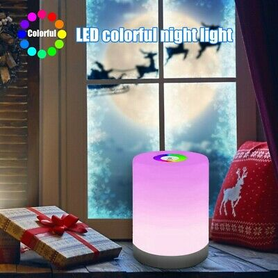 AU18.99 • Buy Touch LED Night Light Bedside Desk RGB Lamp Table Mood USB Dimmable Rechargeable