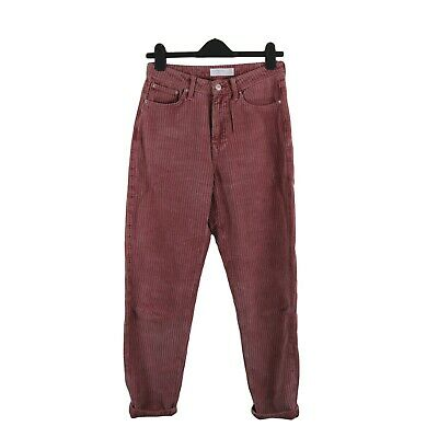 £15 • Buy Topshop Pink 100% Cotton Corduroy Cord High Waist Mom Jeans Size 10 W28 L32