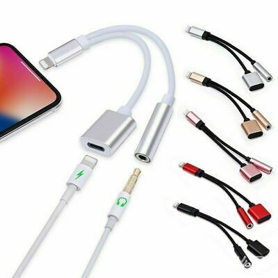 £4.49 • Buy For IPhone IOS 7 8 X 11 12 13 To 3.5mm Headphone Jack Audio AUX Splitter Adapter