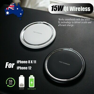 AU13.89 • Buy 15W Qi Wireless Charging Charger For  IPhone 8 IPhone X XR 11 11Pro 12 12Pro Max