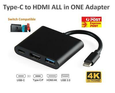 AU13.98 • Buy 3IN1 USB 3.1 Type-C USB-C To Female HUB 4K HD HDMI Data Charging Cable Adapter