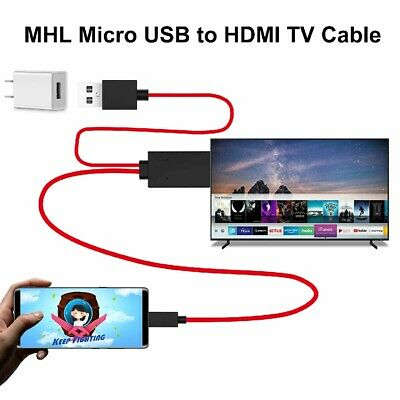 £4.95 • Buy 1080p MHL Micro USB To HDMI Cable TV Lead For Samsung Galaxy S5 S4 S3 Note3 Tab
