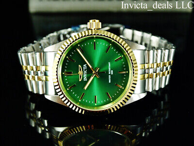 £46.72 • Buy Invicta Men's Specialty JUBILEE Quartz GREEN DIAL Two Tone Stainless Steel Watch