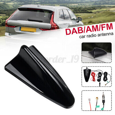 £17.59 • Buy DAB Car Aerial Antenna SMB Adapter Auto AM/FM Shark Fin Roof Mount Active Radio