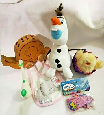 £13.47 • Buy 6 Pc Baby - Young Toddler Items Mixed Lot VGC  Plush Toys Bib Toothbrush (new)