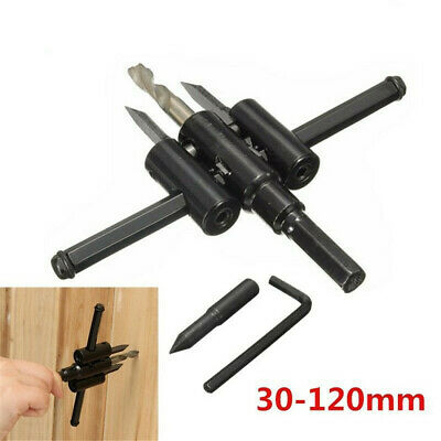 £5.55 • Buy Adjustable Metal Wood Carpentry Circle Cutter Hole Saw Drill Bit Woodworking Tol
