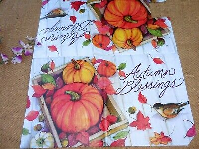 $14.97 • Buy Fall &  Autumn Blessings Magnetic Mailbox Cover ~ New ~ Bird , Pumpkins