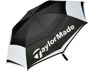 £47.23 • Buy NEW TaylorMade 64  Double Canopy Black/White/Grey Golf Umbrella