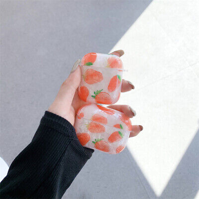 $ CDN6.78 • Buy Cute Glitter Strawberry Fruits Earphones Cover For Apple AirPods Pro 1/2 Case