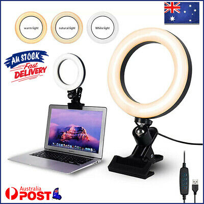 AU21.33 • Buy Video Conference Lighting Kit Clip On 6 Inch Ring Light For Laptop Monitor