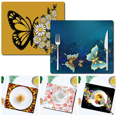 £3.99 • Buy UK Butterfly Placemats Dining Table Mats Dinner Home Kitchen Place Mat Coasters