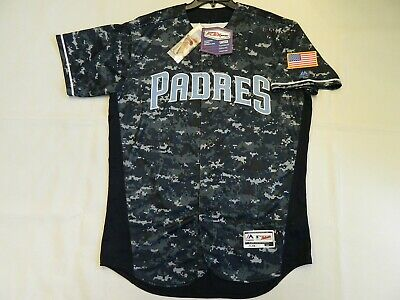 $125 • Buy Authentic San Diego Padres Fathers Day FLEX BASE Blue Camo Jersey 48