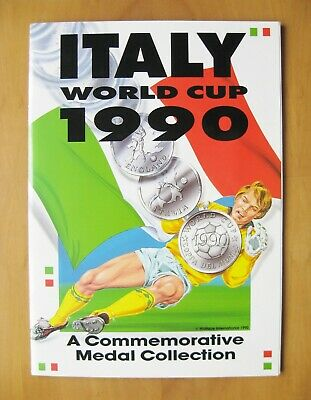 £124.99 • Buy 1990 World Cup Italia Commemorative Booklet & Medal Coin Collection *Exc Cond*