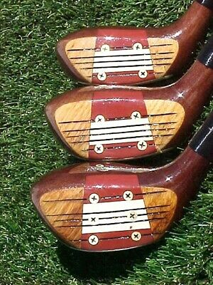 $120 • Buy PERSIMMON Macgregor Jack Nicklaus RH Golf Clubs Woods Set Driver 3 5 W New Grips
