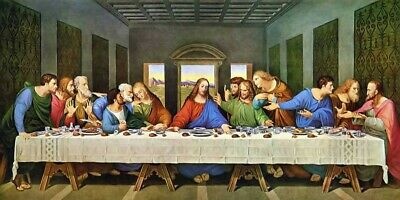 £22 • Buy The Last Supper - Decor Large Wall Art Canvas Framed Picture 30x18inch