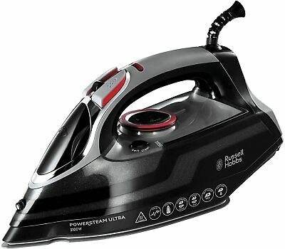 View Details Russell Hobbs Powersteam Ultra 3100 W Vertical Steam Iron 20630 - Black And Grey • 29.00£