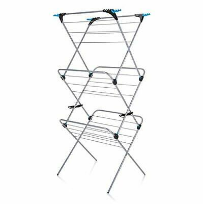 £33.99 • Buy 3 Tier Plus Indoor Airer With 21 M Drying Space, Silver