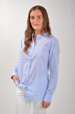 £15 • Buy CREW Blue Cotton Shirt Breast Pocket Loose Fit Relaxed Cut Was £55 Then £38