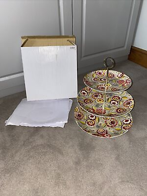 £23 • Buy Brand New Boxed Collier Campbell Megan 3 Tier Cake Stand By Linea Porcelain