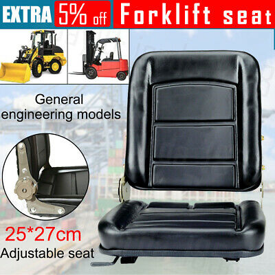 AU55.89 • Buy Forklift Seat Chair Adjustable Leather Bobcat Tractor Excavator Machinery OZ