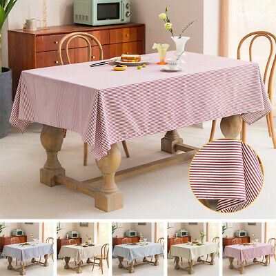 AU24.57 • Buy Tablecloth Rectangular Square Dining Table Cloth Cotton Linen Party Home Decor