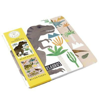 £3.99 • Buy Children's A5 Notebooks Set Of 2 - Dinosaur Plain Pages Book + Ruled Pages