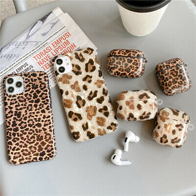 $ CDN5.21 • Buy Cute Leopard Phone Print Case For IPhone 12 11 XS AirPods Pro 1/2 Earphone Cover