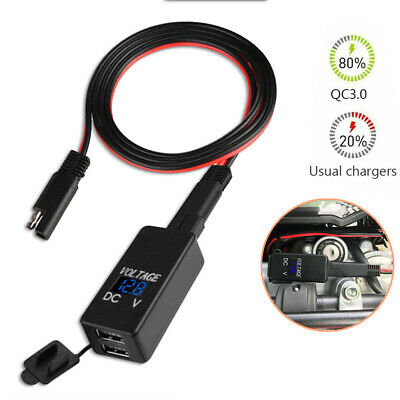 £10.06 • Buy DC 12V-24V Motorcycle SAE To USB Adapter Charger Voltmeter Adapter Waterproof *
