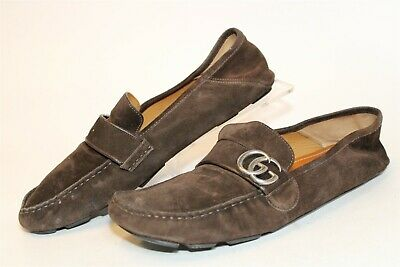 AU76.09 • Buy Gucci Mens UK 11 US 12 Suede Slip On Driving Loafers Italy Made Shoes 478768
