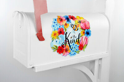$10.95 • Buy Mailbox Magnet Partial Cover Car Bee Kind Floral Wreath Magnet Mail Box Summer
