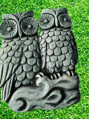 £30 • Buy Garden Ornaments Latex Mould - 2 Owls Wall Plaque Concrete Ornaments IN STOCK