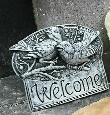 £30 • Buy Latex Mould Of Welcome Bird Plaque Concrete Garden Ornament Statue IN STOCK