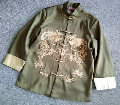 £35.95 • Buy Men Unisex Chinese Jacket Retro Frog Button Shirt Tops Casual Embroidered