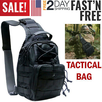 $14.99 • Buy Tactical Backpack Molle Sling Chest Pack Shoulder Bag Outdoor Military Duty Gear