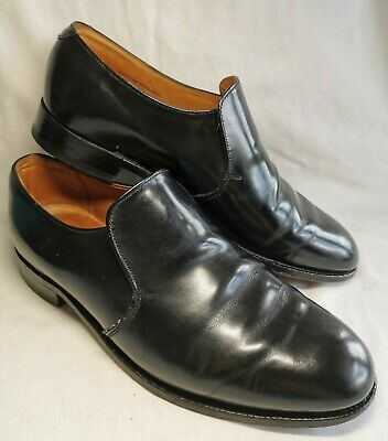 £29.99 • Buy Sanders Shoemakers Men's Size 10.5 Black Leather Slip On Shoes,  MADE IN ENGLAND