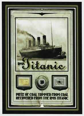 £11.60 • Buy Actual TITANIC COAL Relic Piece, DOCUMENTED Genuine From 1912 Disaster Sinking