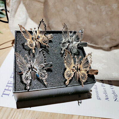 AU8.78 • Buy Simulation Butterfly Hairpin For Women Girl Headdress Clip Hold Hair Accessories