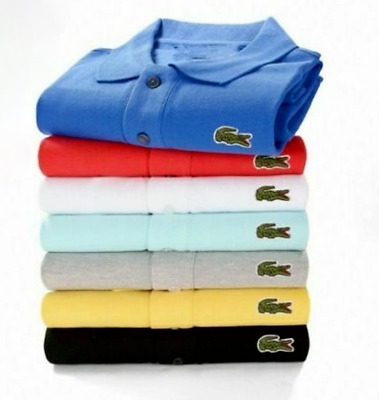 $24.99 • Buy Lacoste1 Classic Polo Tops Unisex Logo Cotton Short Sleeve Slim Fit T-Shirt New